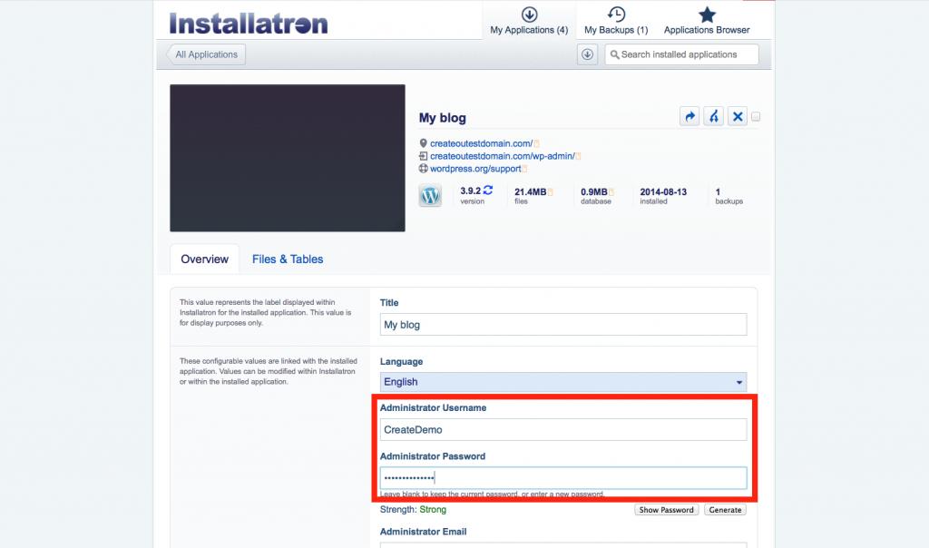 wp_installatron_credentials
